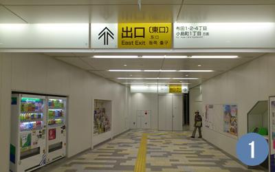 1.東京・京王線調布駅改札