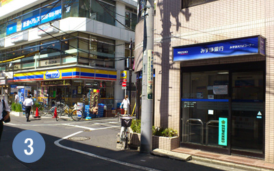 3.みずほ銀行ATM・ミニストップ